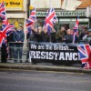 Britain First anti-Brotherhood protest outnumbered by counter-demonstrators