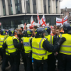 EDL supporters attack police during Rotherham sex abuse protest