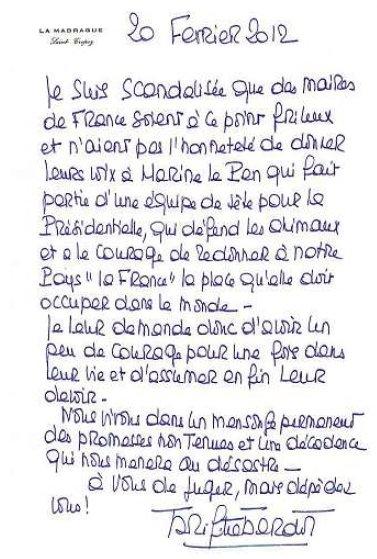 Bardot letter
