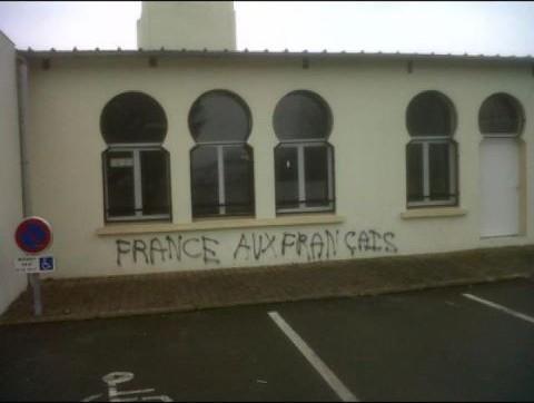 Le Mans mosque graffiti(1)