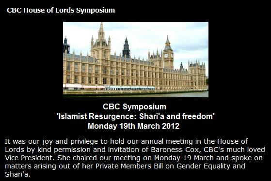 CBC House of Lords Symposium