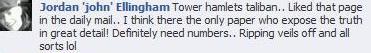 Jordan Ellingham on Tower Hamlets Taliban