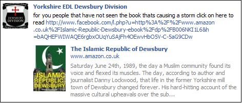 Yorkshire EDL Islamic Republic plug