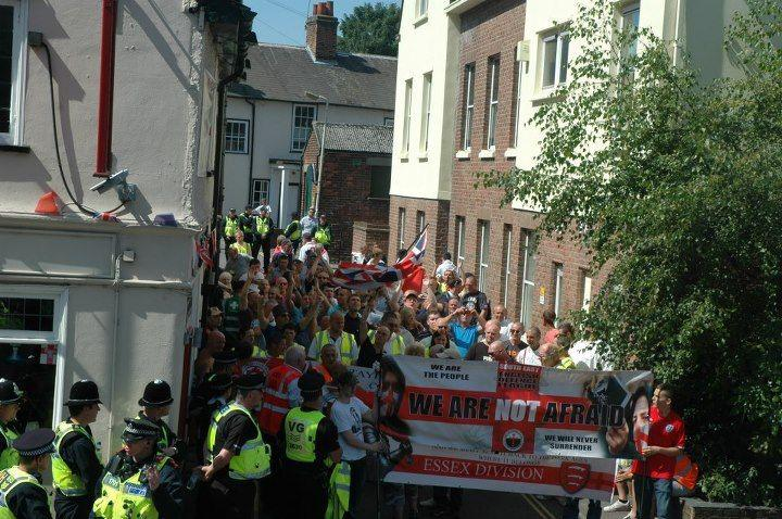 EDL Chelmsford protest August 2012