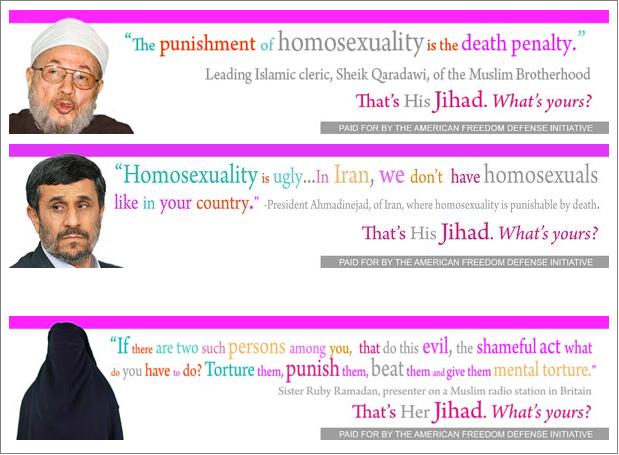 AFDI anti-Islam gay ads