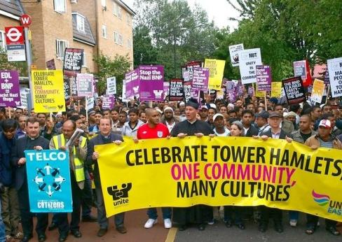 Anti-EDL march Tower Hamlets 2010