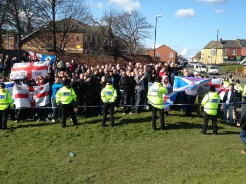 EDL NEI Millfield March 2013