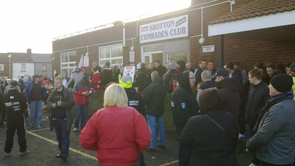 EDL Shotton Colliery protest (3)