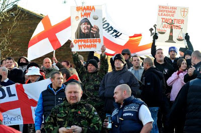EDL Shotton Colliery protest