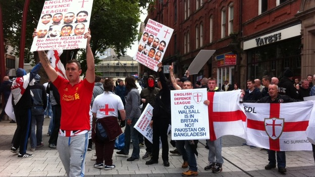 EDL Walsall protest