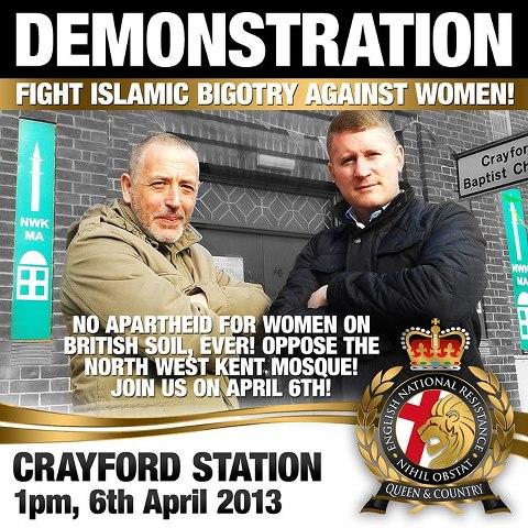 ENR Crayford mosque protest ad