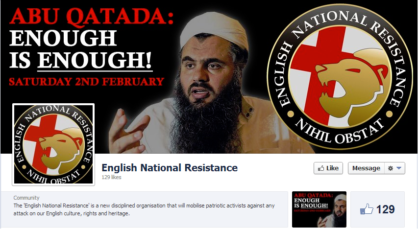 English National Resistance protest