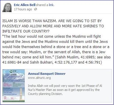 Eric Bell Islam worse than Nazism
