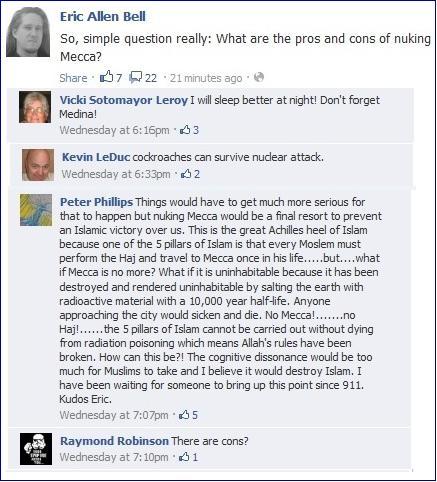 Eric Bell nuke Mecca