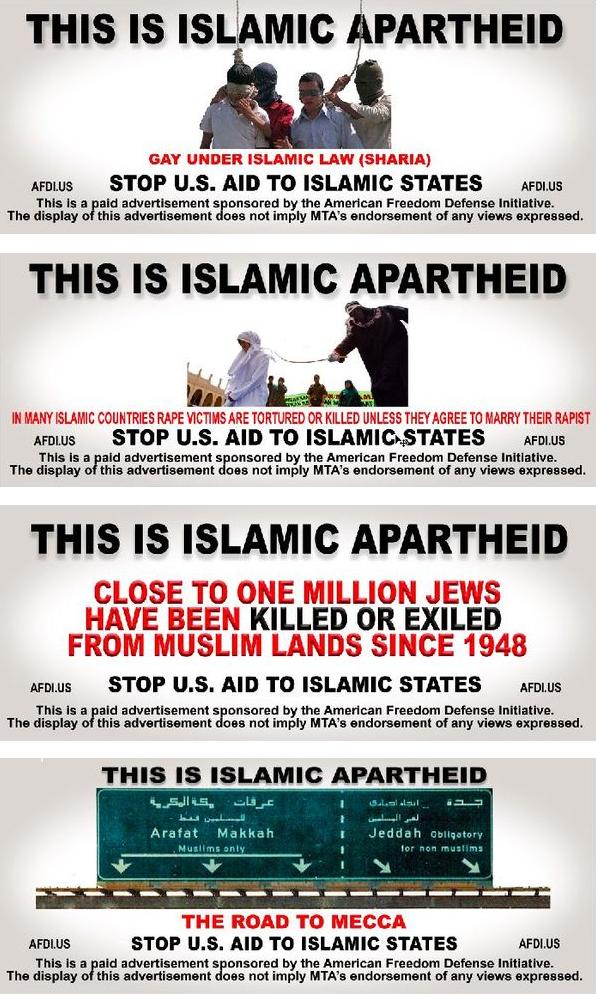 Geller Islamic Apartheid ads