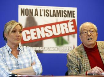 Marine Le Pen and father