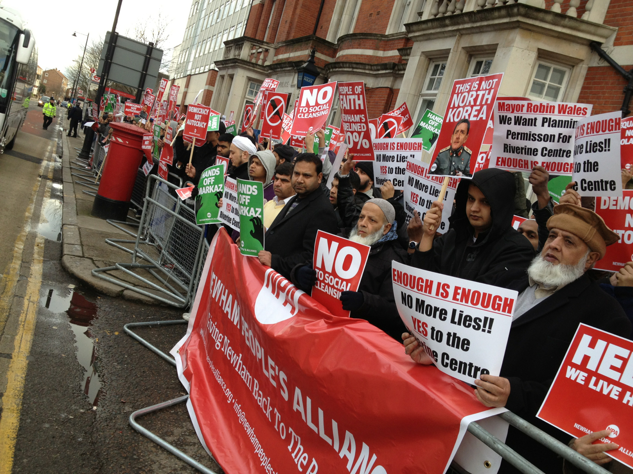 Newham People's Alliance demo (2)