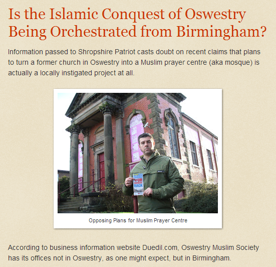 Shropshire Patriot Islamic conquest of Oswestry