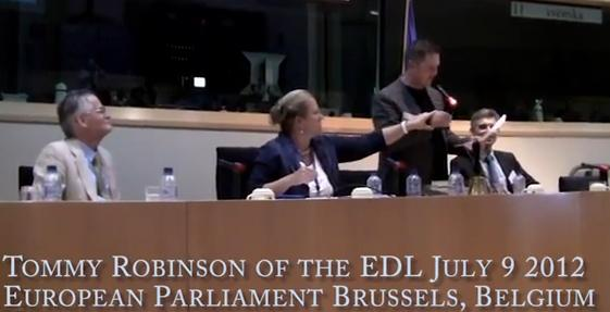 Stephen Lennon at European Parliament
