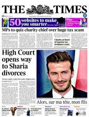 Times sharia divorces headline