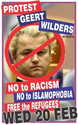 Wilders Perth protest
