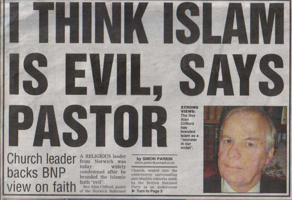 Alan Clifford Islam is Evil