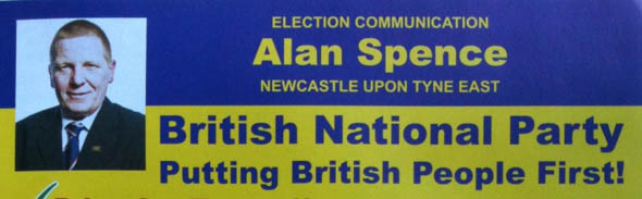 Alan Spence BNP candidate