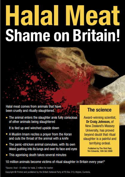 BNP Shame on Britain halal leaflet