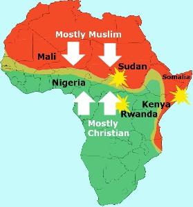 Bakke anti-Islam map