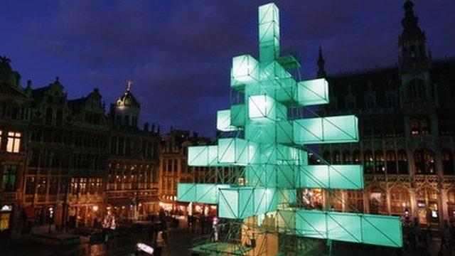 Brussels Christmas tree