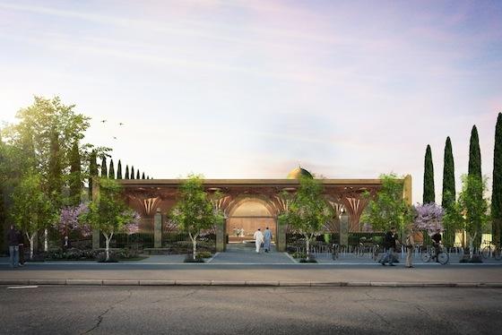 Cambridge mosque facade