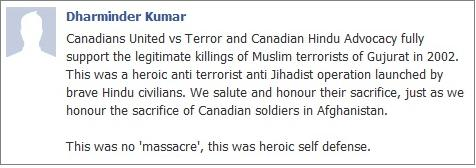 Canadian Hindu Advocacy on Gujarat massacre