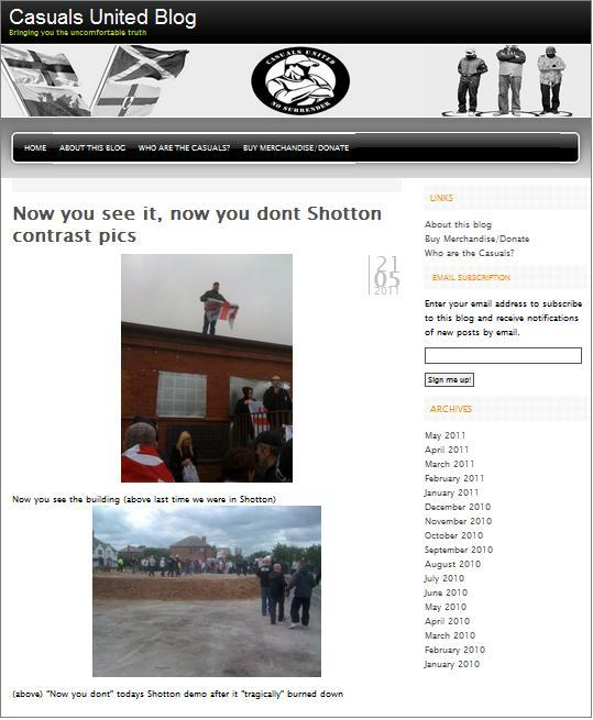 Another small EDL protest in Shotton | Islamophobia Watch