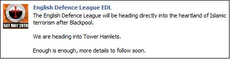 EDL Tower Hamlets