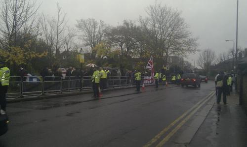 EDL Wandsworth prison protest