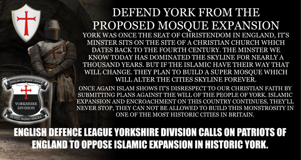 EDL against York mosque