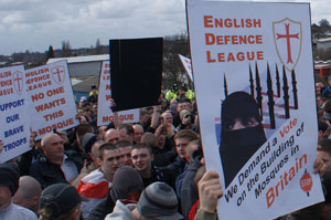 EDL anti-mosque protest Dudley
