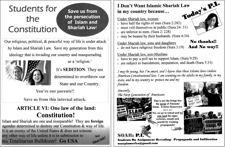 Florida anti-Islam posters