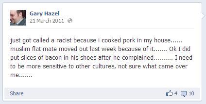 Gary Hazel Facebook