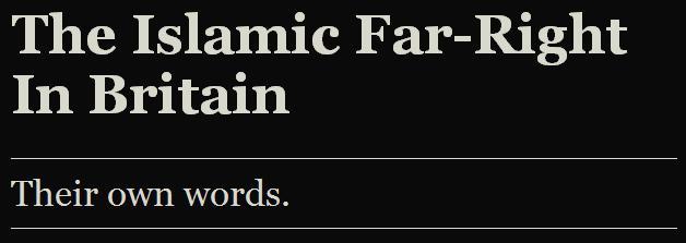 Islamic Far Right In Britain