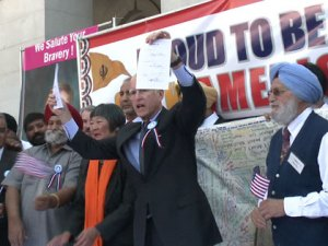 Jerry Brown at Sikh rally