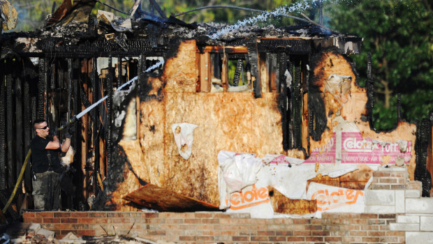 Joplin mosque blaze aftermath