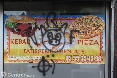Limoges restaurant graffiti