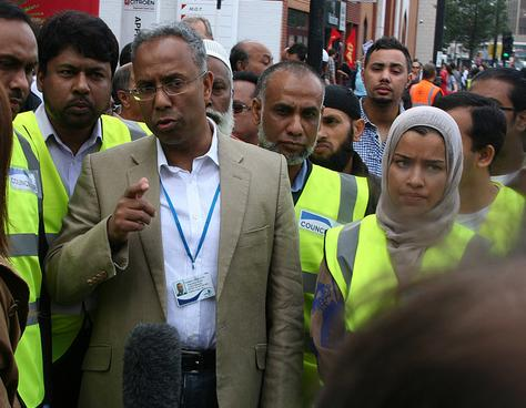 Lutfur Rahman talks to media