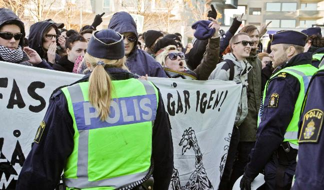 Malmö anti-Wilders protest
