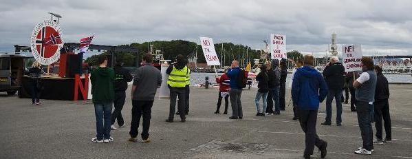 NDL Stavanger protest2