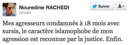 Nouredine Rachedi tweet