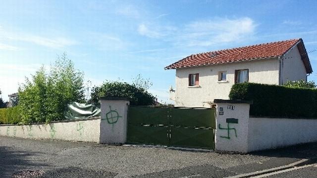 Pont-du-Château Nazi graffiti