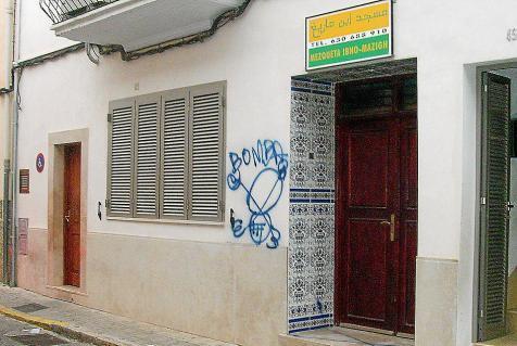 Sa Pobla mosque graffiti