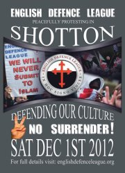 Shotton Colliery EDL demonstration